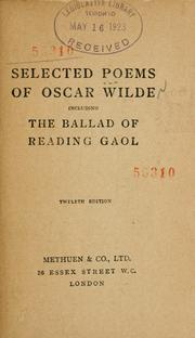 Selected Poems Of Oscar Wilde Including The Ballad Of
