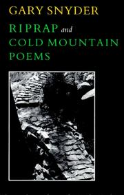 Cover of: Riprap: and, Cold mountain poems