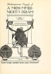 Cover of: Shakespeare's comedy of A midsummer-night's dream | William Shakespeare
