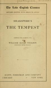 Cover of: Shakspeare's The Tempest | William Shakespeare