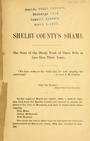 Cover of: Shelby county