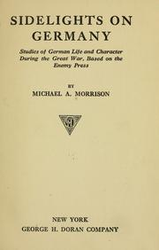 Cover of: Sidelights on Germany | Morrison, Michael A.