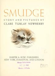 Cover of: Smudge | Clare Turlay Newberry