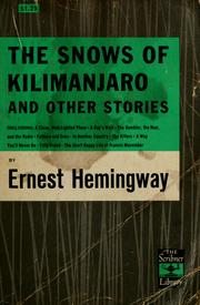 Cover of: The snows of Kilimanjaro, and other stories. | Ernest Hemingway