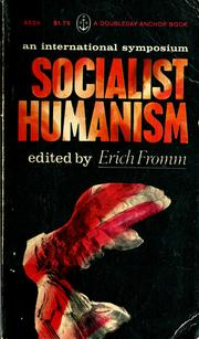 Cover of: Socialist humanism | edited by Erich Fromm.
