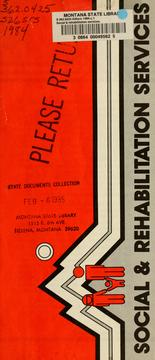 Cover of: Social & rehabilitation services | Montana. Dept. of Social and Rehabilitation Services