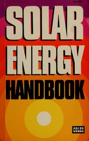Cover of: Solar energy handbook | John H. Keyes