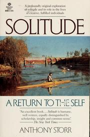 Cover of: Solitude by Anthony Storr