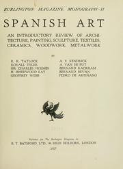 Cover of: Spanish art by R. R. Tatlock