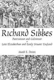Cover of: Richard Sibbes | Mark E. Dever