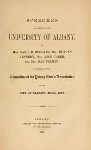 Cover of: Speeches in behalf of the University of Albany | Young men