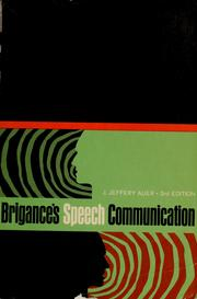 Cover of: Speech communication | Brigance, William Norwood