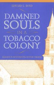 Cover of: Damned souls in a tobacco colony