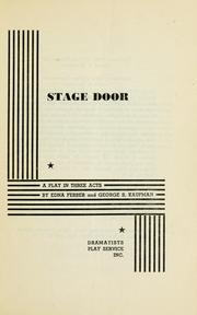 Stage door by Edna Ferber