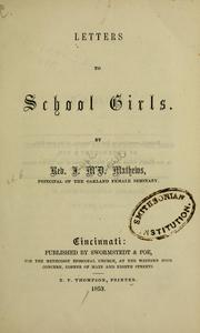Cover of: Letters to school girls | Joseph M