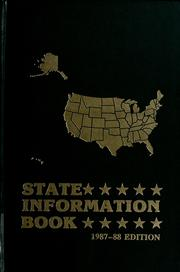Cover of: State information book | edited by Gerry Jones ; associate editor/database manager, Susan D. Hillenbrand ; assistant editor, Lucy W. Blanton.