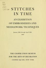 Cover of: Stitches in time | Cooper Union Museum for the Arts of Decoration