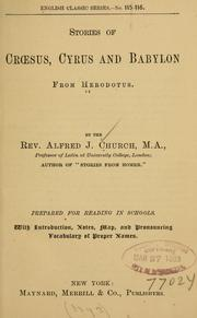 Cover of: Stories of Crsus, Cyrus and Babylon from Herodotus | Herodotus