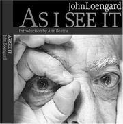 Cover of: As I see it