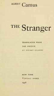 Etranger by Albert Camus