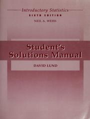 Students solutions manual to accompany introductory statistics cover of students solutions manual to accompany introductory statistics sixth edition neil a fandeluxe Images