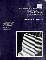 Cover of: Student's solutions manual | Earl William Swokowski