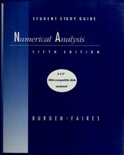 Student study guide to accompany numerical analysis by