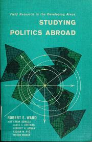 Cover of: Studying politics abroad | Robert Edward Ward