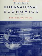 Cover of: Study guide, International economics, 7th ed., [by] Dominick Salvatore | Arthur Raymond