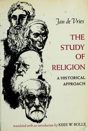 Cover of: The study of religion by Vries, Jan de