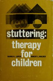 Cover of: Stuttering therapy for children | Harold L. Luper
