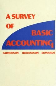 Cover of: A survey of basic accounting | R. F. Salmonson