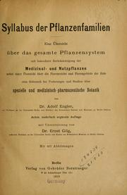 Cover of: Syllabus de Pflanzenfamilien | Adolf Engler