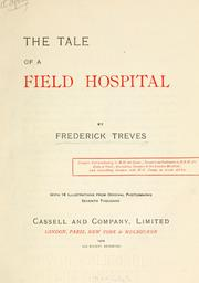 The tale of a field hospital by Frederick Treves