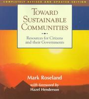 Cover of: Toward sustainable communities