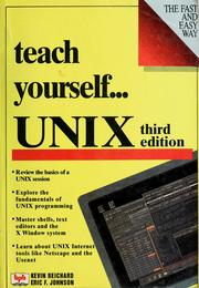 Cover of: Teach yourself-- UNIX | Kevin Reichard