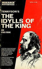 Cover of: Tennyson's The Idylls of the king and other poems | David Madison Rogers
