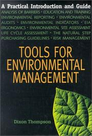 Cover of: Tools for Environmental Management | Dixon Thompson