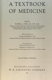 Cover of: A textbook of medicine | Cecil, Russell L.