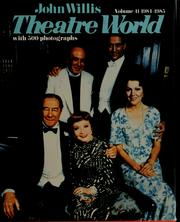 Cover of: Theatre world, 1984-1985 season | [edited by] John Willis.