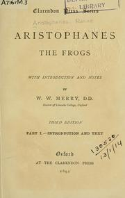 Frogs by Aristophanes