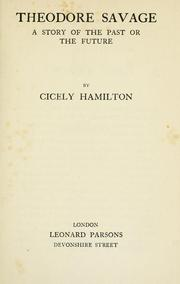 Cover of: Theodore savage | Cicely Mary Hamilton