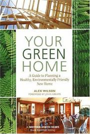 Cover of: Your Green Home | Alex Wilson