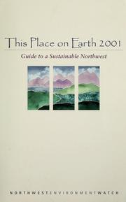 Cover of: This place on earth 2001 |