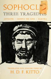 Cover of: Three tragedies | Sophocles