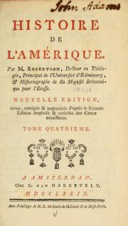Cover of: L'histoire de l'Amérique | William Robertson