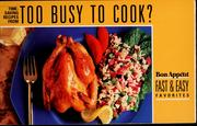 Cover of: Time-saving recipes from too busy to cook? |
