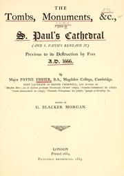 Cover of: The tombs, monuments, &c., visible in S. Paul