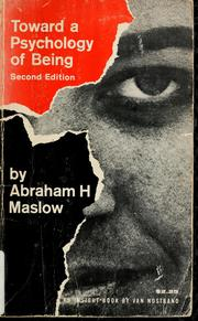 Cover of: Toward a psychology of being | Abraham H. Maslow