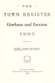 Cover of: The town register | Mitchell, H. E.